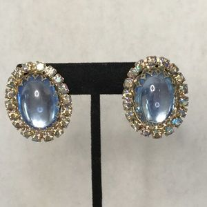 Vintage Clip On Gorgeous Sparkly Earrings